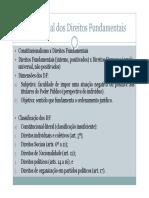 DC II - Tema 1 - Teoria Geral Dos Direitos Fundamentais