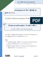 Verbes Premier Groupe