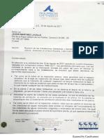 Carta Aguas de Cartagena