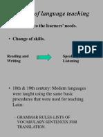 History of Language Teaching
