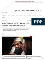 Hafiz Saeed's JuD to Contest 2018 General Elections in Pakistan - News18