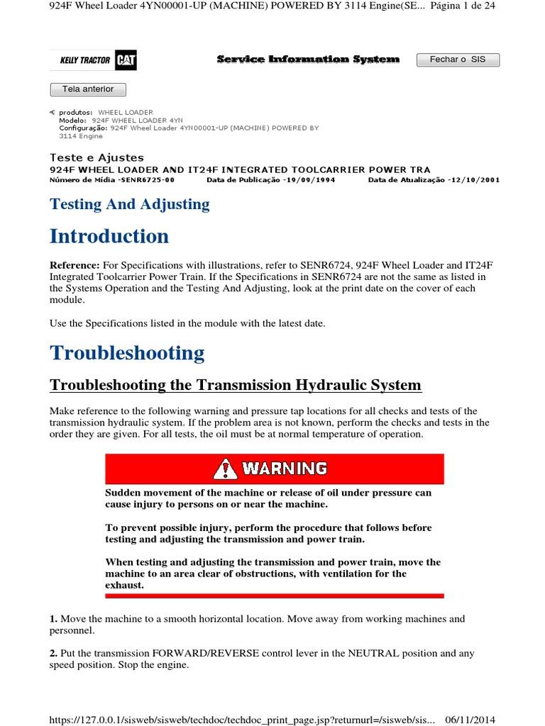 924f CATERPILLAR | Transmission (Mechanics) | Clutch