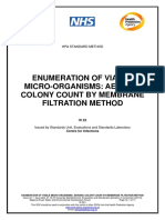 HPA Enumeration of Viable Micoorganisms