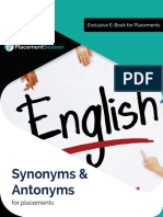 Synonyms Antonyms 2018