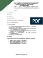CE-PG-NC-8.3 Control de Trabajos No Conformes, No Conformidades, Acciones Correctivas y Preventivas