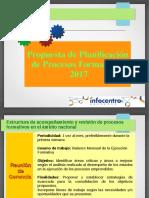 Planificacion Procesos Formativos 2017B