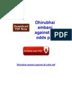 Dhirubhai Ambani Against All Odds PDF