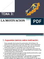 Tema 3 La Motivacion