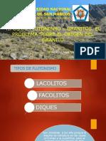 Tipos de Plutonismo – Granitos