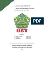 Tugas KTI Analisis Kalimat Kelompok N