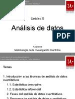 Unidad 5 - Análisis de Datos y Presentación de Resultados