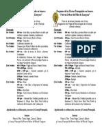 Programa Fiestas Parroquiales 2017