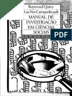 Quivy e Campenhoudt. Manual de Investigação Em Ciências Sociais (1)