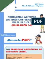 4.- Problemas de Igualación