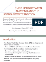 Cambridge - GFC and the Low-carbon Transition