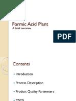 Formic Acid Plant