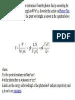Photon Flux Conversion