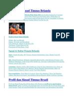 Profil Dan Skuad Timnas Piala Dunia