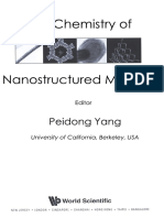 Peidong Yang Chemistry of Nanostructured Materials