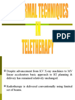 Conformal Techniques in Teletherapy