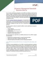 Executive Performance Management Essentials
