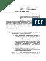 MODELO DE RECURSO DE AGRAVIO CONSTITUCIONAL EN PROCESO DE CUMPLIMIENTO