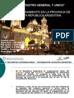 Catastro General Unico Salta-Argentina