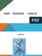 VAWT    SaVONIUS   -  GORLOV