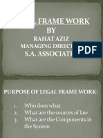 Legal Frame Work or Legal System