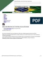 Rele de Proteção Contra Falta de Fase - Eletrônica Brasil