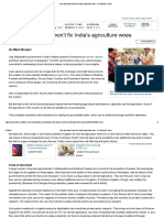Why Loan Waivers Won't Fix India's Agriculture Woes - The Economic Times