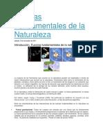 Fuerzas Fundamentales de La Naturaleza