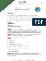Lei Organica Do Município de São Luís