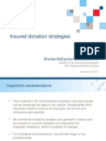 Insured Donation Strategies - Brenda McEachern