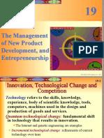 Chpt19 the Management of New Product Development, And Entrepreneurship