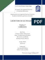ELECTROQUÍMICA - PRÁCTICA 7