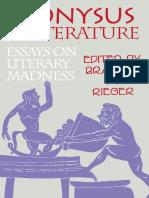 Greek Deity Dionysus; Greek Deity Dionysus; Dionysos.; Rieger, Branimir M Dionysus in Literature Essays on Literary Madness