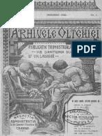 Arhivele Olteniei , 01, Nr. 01, Ianuarie 1922