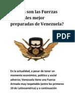 Cuáles Son Las Fuerzas Especiales Mejor Preparadas de Venezuela