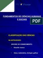 Fundamentos Gerais Das Ciencias Humanas e Sociais
