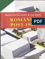 Romania Post 1989 Catherine Durandin, Zoe Petre postcomunism sistem politic
