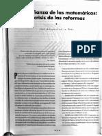 La Enseñanza de Las Matematicas_las Crisis de La Reforma Educativa