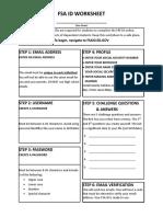 fsa id worksheet