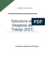 Estructura del Desglose del Trabajo (EDT)