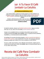 Como Usar a Tu Favor El Café Para Combatir La Celulitis