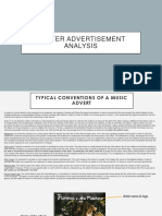 Poster Advertisement Analysis