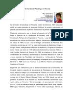 La Formacion Del Psicologo en Panama