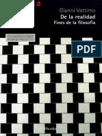 G, Vattimo- De la Realidad (Fines de la Filosofía) [2012].pdf