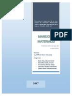 Informe Helados Iberia Manejo de Materiales