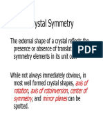 Crystal Symmetry